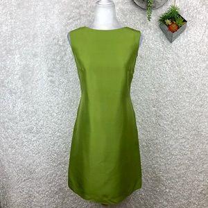 Vintage Pure Silk Chartreuse Shift Dress 4